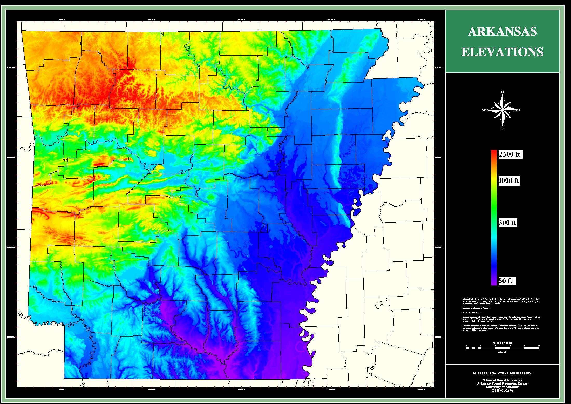 Ark Elevation Map.Brianemfinger Com Realclearwx Maps